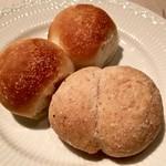 リストランテ ラ・バリック トウキョウ - かわいらしい形のパン