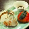 招福そば奈美喜庵 - 料理写真:向付(左)と煮物(右)