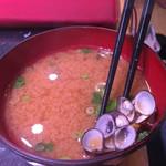 井桁寿司 - セットのお椀はシジミ汁