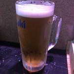井桁寿司 - 生ビール500円+税