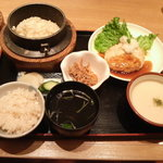 釜めし やきとり はん - 麦とろ&豆腐ハンバーグ