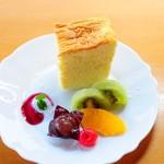 木楽 - 『チーズケーキ』そばスウィーツではありませんが、人気のデザートです。