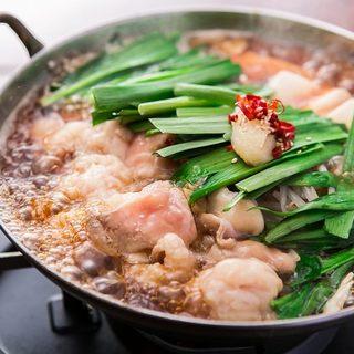 3種のスープを選べる博多牛もつ鍋!