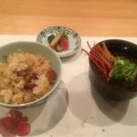 四季の食 さいとう - 海老の味噌汁とご飯