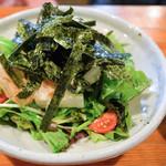 てんやわんや - 山芋と揉み海苔の和風サラダ