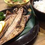 鮮宴丼ひろし - トロあじ定食(ご飯大盛り無料、味噌汁付き) 700円