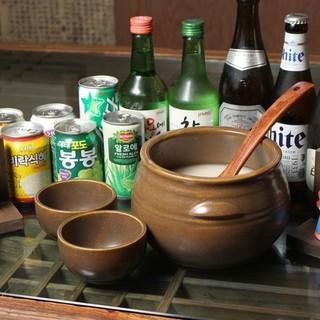 生マッコリや韓国焼酎も充実