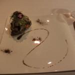 レ セゾン - 鮑のグリル雲丹の燻製 フヌイユのサラダ