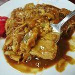 大村庵 - 豚肉と玉葱のカレー!