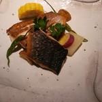 55850240 - 鰆と鯛のポワレ タプナードソース