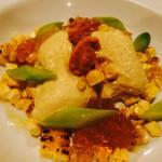ポンデュガール - トウモロコシのブランマンジェ