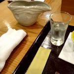 鮨 すぎ乃 - 日本酒のglassと器