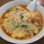 中国料理 季津 - 蟹玉入り酸辣湯麺