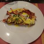 55858485 - 本日の魚介料理;活オマール海老のグリル サフランソース