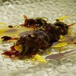 リストランテ サクラ - ~温前菜~「八千代黒牛モモ肉のカンノーロ ゴルゴンゾーラチーズ」