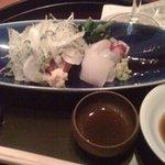 日本料理 TAKEMOTO - お造り(初鰹・鯛・イカ)