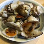 陣屋 - 赤貝の煮付けだよ