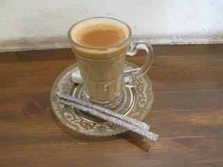Putali Cafe - ランチタイムに追加注文したホットチャイ(120円)