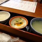酉や 喜兵衛 - 2016年9月「お通し三点盛り」390円