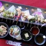 舞妓飯 - 魚介の天ぷら膳