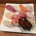 寿司処おかだ - にぎり1.5 1,350円