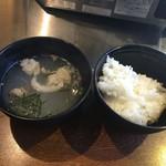 55874246 - テールスープとご飯