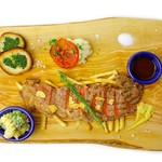 RoofTopCafe YOKOHAMA - 国産牛サーロインステーキプレート ¥4200