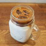 Turret Coffee - チョコバナナラテマキアート(490円) 悶絶のおいしさ