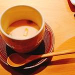 Kaizan - 茶碗蒸し。カワハギの肝が濃厚