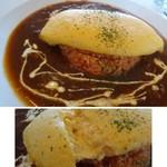 エイチツー クッキング - ◆オムライスはソースを2種類「ビーフシチューソース」or「トマトソース」から選べますので 「ビーフシチューソース」をチョイス。