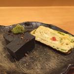 小料理 わみや - 160915 黒ごま豆腐と玉子焼き