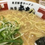 東京豚骨ラーメン 屯ちん - 麺