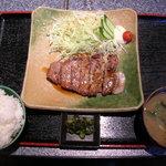 食事処 清田 - 料理写真:豚塩ステーキ定食 800円