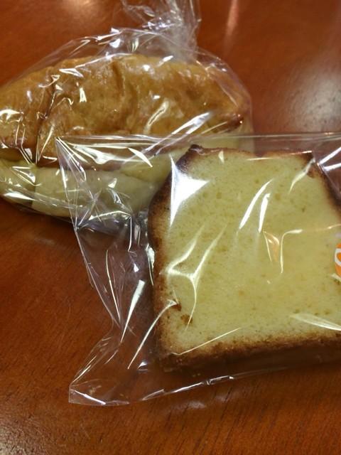 札幌スイーツ&カフェ専門学校 - フィナンシェ ¥50 + クリームパン ¥100