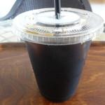 Prato - ケーキセット(宮崎米ときなこのケーキ+アイスコーヒー)のアイスコーヒー