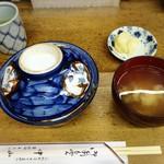 天ぷら 中山 - 天丼蓋を開け前