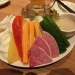 55905871 - 元気野菜のバーニャカウダ 599円+税