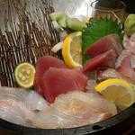 フィッシュ マーケット マルヒデ - 刺盛り3種盛り!