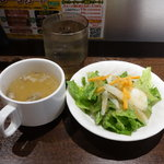 いきなりステーキ - ランチのサラダとスープ