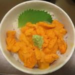 うに むらかみ - 利尻産エゾバフンうに 塩水ハーフサイズ丼 2800円(税別)