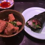 井桁寿司 - おまかせ握りにセットの巻物と小鉢