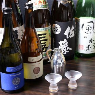 30種以上取りそろう日本酒