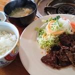 チャレンジビーフ大沼 黒ベコ - 焼肉定食