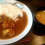 居酒屋 福松 - 特製チキンカレー:300円