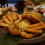 炙屋 - 毛蟹の姿盛