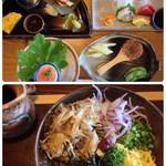 華季の樹 - 料理写真:ぶっかけそば膳(コーヒー、デザート付) 1998円