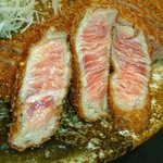 牛かつ もと村 - 肉はレア♥(*^o^)/\(^-^*)