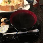 珈琲蔵ぬりの里 - ドリンク写真:蔵コーヒーとオーソドックスなピザトースト