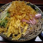満留賀 - 冷したぬき蕎麦(大盛)