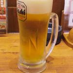 三代目 鳥メロ - 生ビール \199